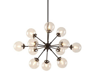 Paige Bronze/Black Chandelier, , large