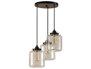 Oslo Bronze 3-Light Pendant, , large