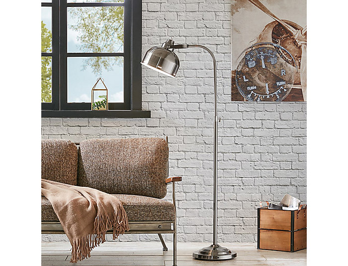 Tribecca Dark Grey Floor Lamp, , large