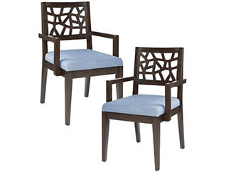 Cracked Ice Arm Chair Set of 2, , large