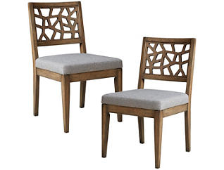 Cracked Gray Chair Set of 2, , large