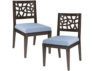 Cracked Blue Chair Set of 2, , large