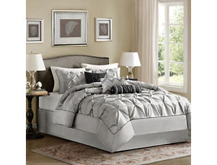Laurel 7Pc Full Comforter Set, , large