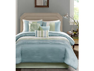 Amherst Queen 7 Piece Comforter Set, , large