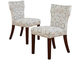 Taupe Hourglass Chair Set Of 2