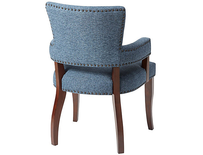Blue Nailhead Arm Dining Chair, , large