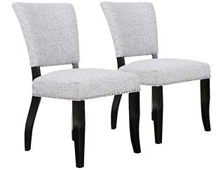 Grey Open Back Chair Set of 2, , large