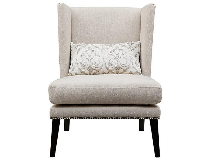 Scarlett Wing Chair, Cream, , large