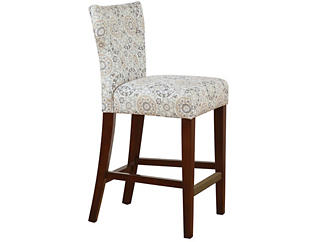 Taupe Hourglass Counter Stool, , large