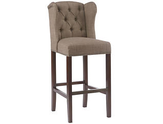 "Taupe Tufted Wing 30"" Barstool, , large"