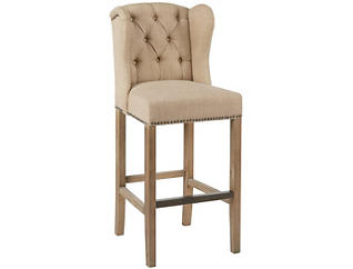 "Sand Tufted Wing 30"" Barstool, , large"