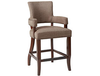 "Brown 26"" Arm Counter Stool, , large"