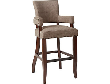 "Brown 30"" Arm Bar Stool, , large"