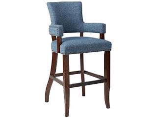 "Blue 30"" Arm Bar Stool, , large"