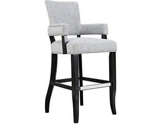 "Grey 30"" Arm Bar Stool, , large"