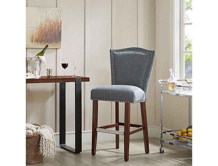 Pleasant Blue 30 Inch Bar Stool Art Van Home Inzonedesignstudio Interior Chair Design Inzonedesignstudiocom