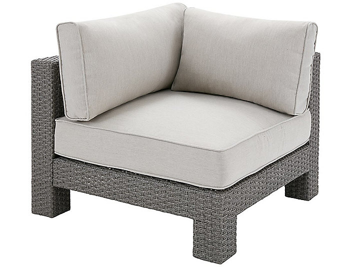 Ordinaire ... Shae Corner Chair, Grey, , Large ...