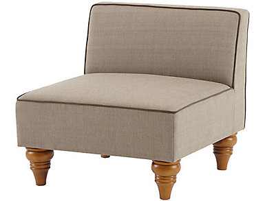 Stannis Armless Chair, Beige, , large