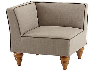Stannis Beige Corner Chair, , large