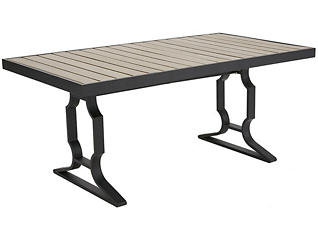 Roslin Dining Table, Grey, , large