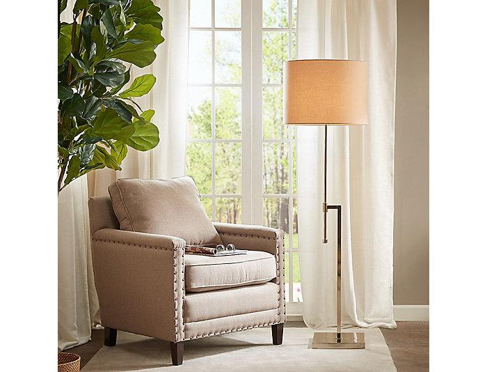 Sutton Silver Floor Lamp, , large