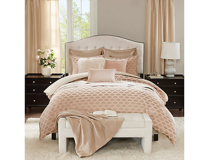 8 Piece Romance Queen Comforter, , large