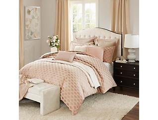 9 Piece Romance King Comforter Set, , large