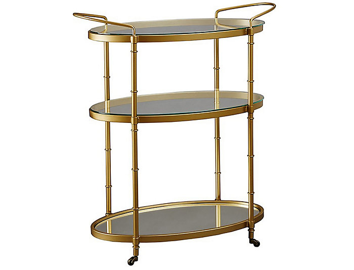 Antique Gold Bar Cart, , large