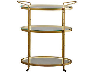 Antique Gold Bar Cart, , large
