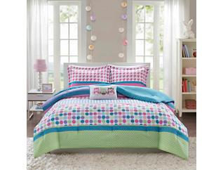 Katie Full/Queen 4 Piece Comforter Set, , large