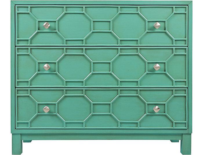 Matrix Turquoise Accent Cabinet, , large