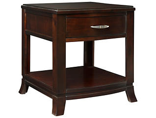 Downtown End Table, Merlot, , large