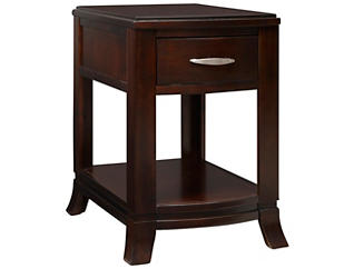 Downtown Chairside Table, Merlot, , large