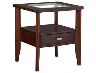 Montego Rectangular End Table, Brown, , large