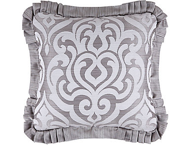 "Babylon 20"" Silver Square Pillow, , large"