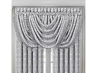Colette Silver Waterfall Valance, , large