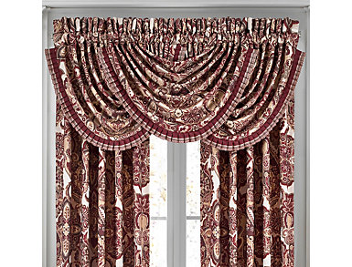 Rosewood Waterfall Valance, , large