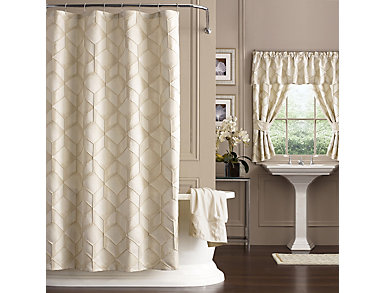 Horizons Extra Long Shower Curtain, , large
