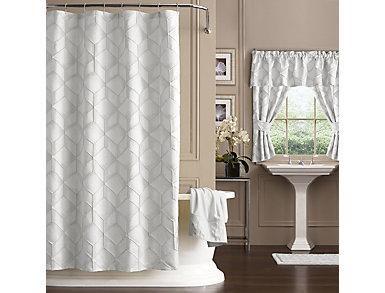 Horizons Extra Long Shower Curtain, , large