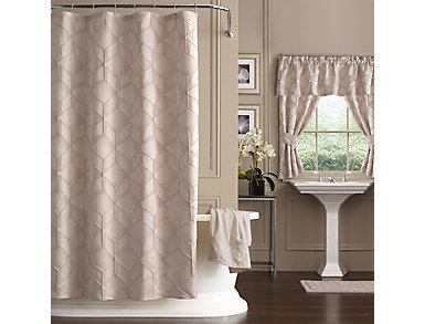 Horizons Stall Shower Curtain, , large