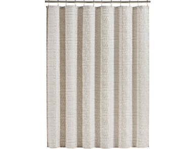 Logan Shower Curtain Ivory, , large