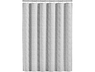 Logan Shower Curtain Silver, , large