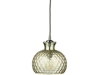 Clark Pendant in Taupe Glass, , large