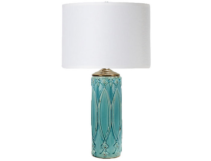 Tabitha Turquoise Table Lamp, , large
