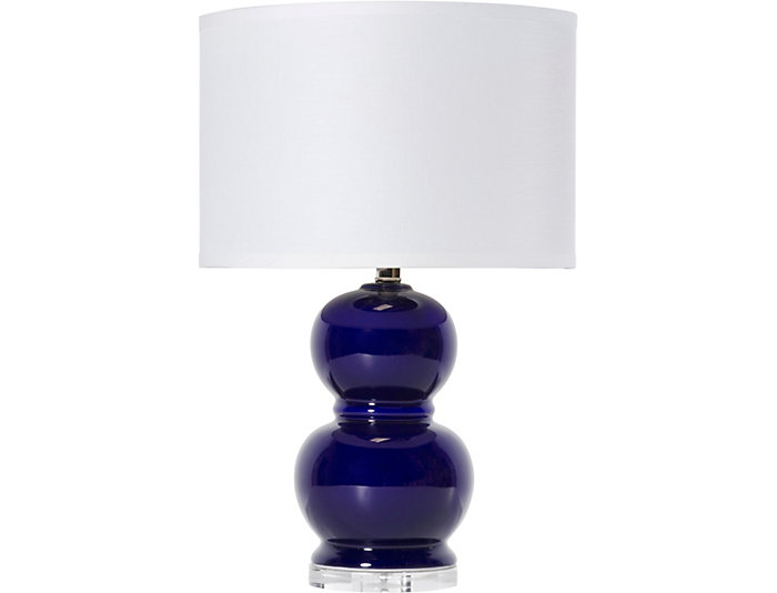 navy table lamp ceramic bubble navy table lamp large lamp art van home