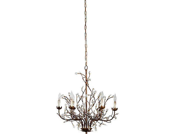 6 Light Iron Branch Chandelier, , large