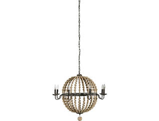 Cosmos Chandelier-Natural Wood, , large