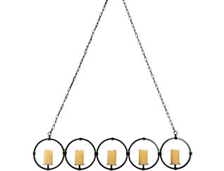 5 Circle Candle Chandelier, , large