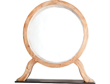 """36"""" Round Natural Table Mirror, , large"""