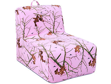 Tween Lounger-Pink Mossy Oak, , large